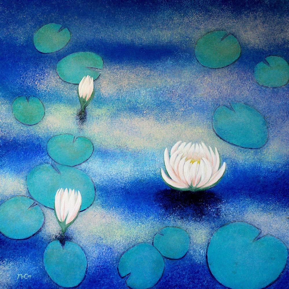 Lotus Flower Painting Kirstin Mccoy