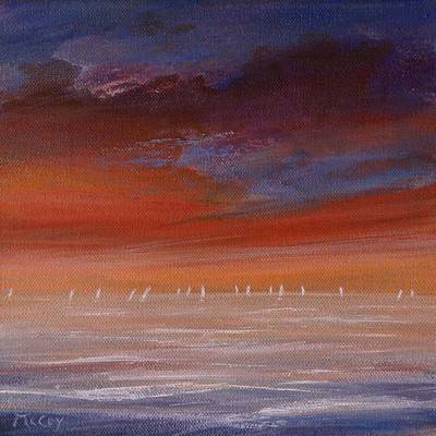 Distant Sails in the Sunset - SOLD