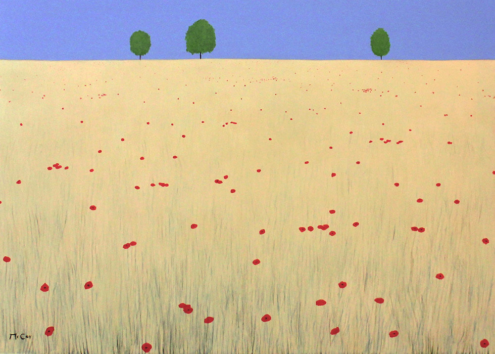 Field of Wheat and Poppies