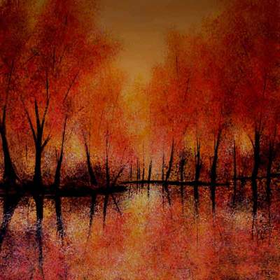 Autumn Reflections - Large oil painting