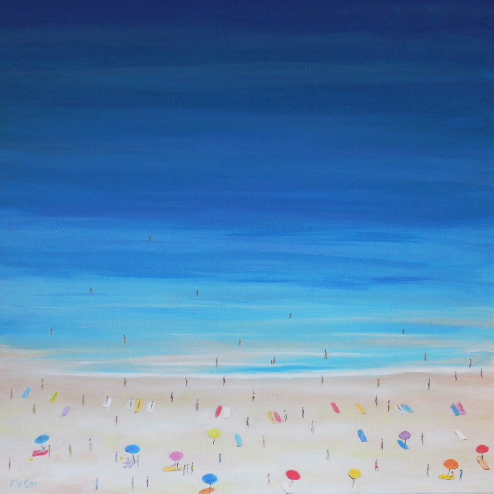 'Beach' - Original Oil Painting on Canvas