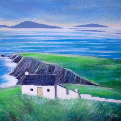 Old Cottage and Ruins, Dingle Peninsula - SOLD