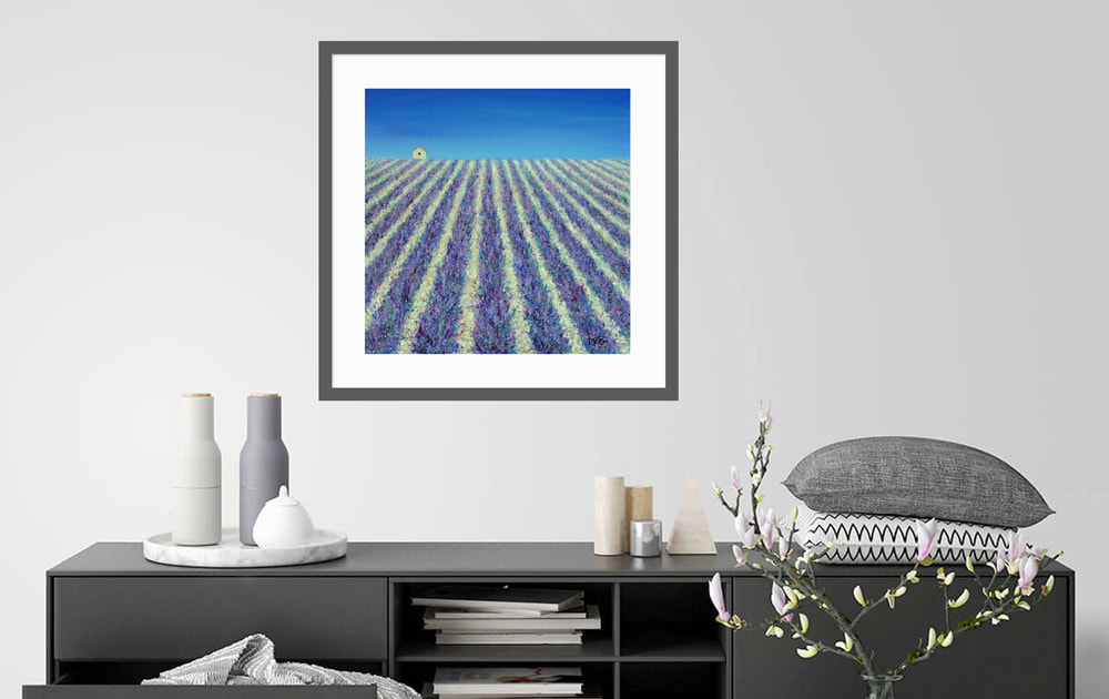 Field of Lavender - Art featured at Saatchi Art Gallery