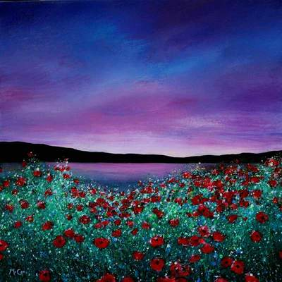 Sunset Poppies - SOLD