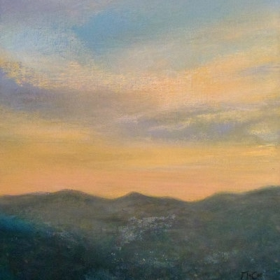 Sunset Wicklow Mountains - SOLD