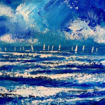 Sails in the Distance - SOLD